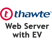 Thawte Web Server with EV