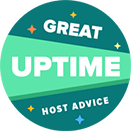 HostAdvice Great Uptime Award for HyperHost